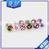 Wholesale earrings costume jewelry fashionable design charming acrylic barbell ear studs