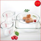 Hot Sale 4-PC Glass Bakeware Set Baking Dishes Measuring Cups Baking Pans