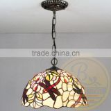 CE & UL STANDARD pendant tiffany lamp for restaurant,baolian pendant tiffany lamp for restaurant