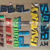 Fashionable Eco-friendly Non-toxic alphabet letter foam puffy stickers