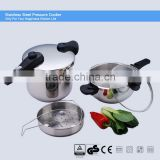 long bakelite handle stainless steel pressure cookware suitable to gas-oven & induction cooker ASB 22CM 7L