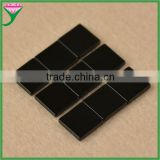 cheap prices brazilian square double flat wholesale genuine natural black agate stone slices