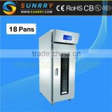 High efficiency electric refrigerated proofer single door pita bread baking factory equipment