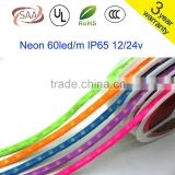 New Arrival Neon LED Strip 5050 Colourful Fluorescent LED Strip,DC12V 60 leds/m IP65 Waterproof,5m/lot