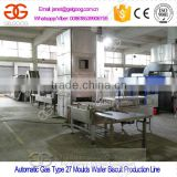 Automatic Gas Wafer Baking Line/Wafer Biscuit Making Machine/Wafer Baking Oven and Cutting Machine