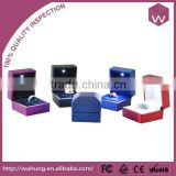 China professional plastic jewel ring box with led light                                                                         Quality Choice
