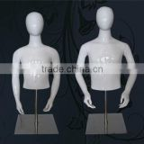 Fashion Design Fiberglass Children Mannequin Stand With Head