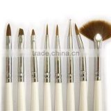 8 pcs NAIL ART SABLE BRUSHES DOTTING POINTING PEN X 15PCS HN503