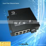 Quality 10/100m 8 Port Fiber Optic Media Converter/Switch