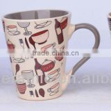 Personalized Ceramic cafe mug cup