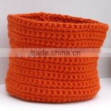High quality best selling crochet basket , storage baseket handmade