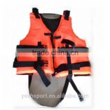 high density foam floating water sports life jacket cotton excellent high quality safe jacket for adult YDJK-001 orange