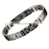 Noproble P044 FDA silver tourmaline germanium stainless steel bio ceramic fashion health charm bracelet