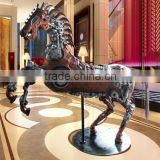life size metal horse statue