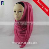 Solid Color Plain Long Modal Hijab Dubai Big Size Malaysia Muslim Soft Handfeel Jersey Head Scarf
