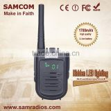 SAMCOM CP-120 High Quality Latest Design Hidden LED Lighting Vhf/Uhf Long Range Walkie Talkie