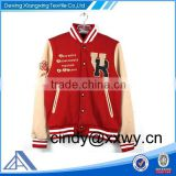 Custom youth varsity jacket with brand logo embroidery,fashion design baseball jacket with pockets