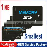 1MB Cheapest wholesale price sd memory card,smallest micro capacity 1MB SD card for advertisement 2 4 8 16 32 64 128 256 G GB