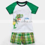 China OEM comfortable summer short sleeve suit pant coat children