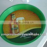 Pastic non-slip clear plastic logo plate for food serving