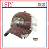 wholesale custom sport cap with beer bottle opener/bottle opener baseball cap