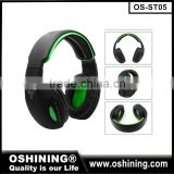 High quality glowing headphones for smartphone headphones, stereo bluetooth headset with mp3 player