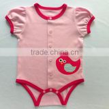 embroidery bird applique cotton bodysuit