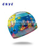animal print silicone swimming cap,funny silicone swimming caps,yellow silicone swim caps