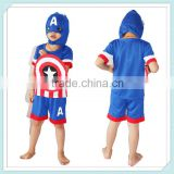 Kids Clothes Manufacture Children & Baby Casual Clothing Captain America Outdoor suit Short Sleeve Captain America costumes
