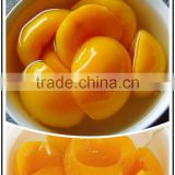 canned yellow peach halves