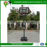 Portable adjustable height in ground basketball hoop