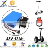 2015 new products customized electric bicycle 48 volt ebike battery 48v 12Ah with 6s 15A BMS and CC/CV 54.60v 2.0A charger