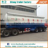 Tri-axle volume optional dry bulk cement transport tank truck trailer cement bulk trailers for sale