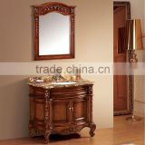 Antique mirror cabinet vanity unit,Hand carved bathroom cabinet furniture,Wooden bath vanity mirrored cabinets(BF08-4138)
