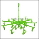 Hanging Dryer 20 Clips Pin Laundry Clothes Hanger Underwear Socks Foldable Green,custom plastic hanger manfuacturer