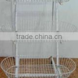 shopfitting movable 3 layers wire mesh fruit rack display shelf