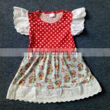 unique baby girl Strawberry Girl printed summer dress new style kids stylish frocks 1 pieces remake