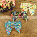 2016 New Design Fashion Kids Hair Accessories 0-2year by Cotton Headband Flowers Girls Knotted Messy Bows Baby Headband