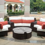 Environmental Protection Contemporary Outdoor Furniture Sun Resistant Wicker Rattan Balcony