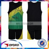 green free design new model wholesale basketball uniform