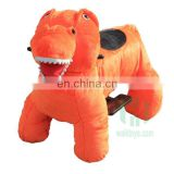 HI CE standard 4 wheel electric scooter walking dinosaur ride on toy