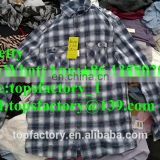 Fashion Men Shirts bulk used clothing wholesale importer of used clothes
