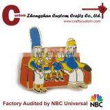 Good Quality Hard enamel Cartoon family metal Souvenir Lapel pins gift