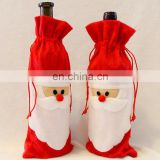 Santa Claus Wine Bottle Cover Christmas Dinner Party Table Decor