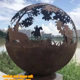 Garden Stainless Steel Sculpture Stainless Steel Abstract Sculpture Surface Mirror Shining