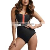 2019 High Quality Spectacular  Fabric Black Underwire One Piece  Bikini Ladies