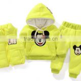 fashion brand boys girls clothing sets autumn winter kids clothes children's wear 3pcs hoodies+vest+pants children sports suit