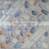 300x300mm 3D Inkjet floor tile,pebble mosaic floor tile ,stacked stone floor tile