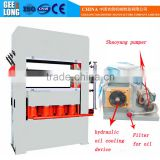 MDF/HDF moulded door skin laminating hot press machine