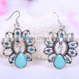 wholesale fashion vintage resin acrylic kallatie indian golden beautiful earring designs for women